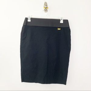 NYCC Black Stretch Pencil Skirt L #2232